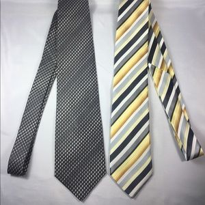 2 Men's Ties Bijoux Terner and Geoffrey Beene